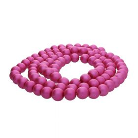 SeaStar™ satin / round / 8mm / neon pink / 120pcs
