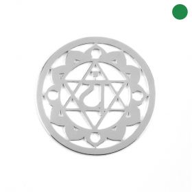 Sterling Silver 925 'Air' Chakra Connector 24mm Pk1