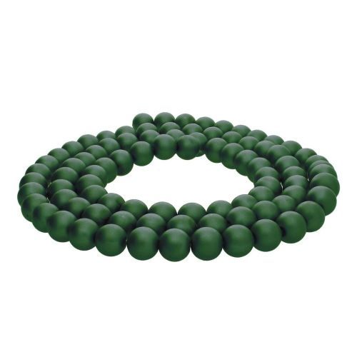 SeaStar™ satin / round / 8mm / bottle green / 120pcs