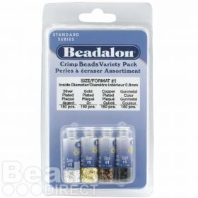 Beadalon Silver, Gold, Copper and Gunmetal Crimp Bead Variety Park Pk600