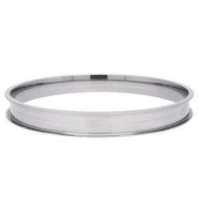 Bracelet base / surgical steel / 8mm / internal diameter 65mm / silver / 1pcs