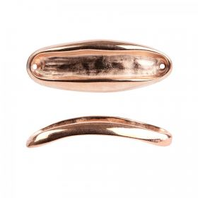 Rose Gold plated Zamak Gondola Connector for 6mm Beads Pack of 1