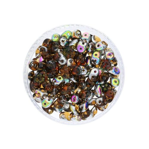 SuperDuo™ / glass beads / 2.5x5mm / Vitral / Smoky Topaz / 10g / ~140pcs