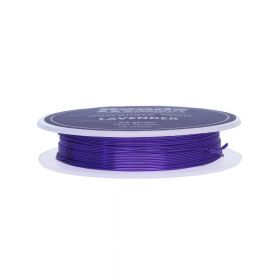 Lavender Colour Copper Craft Wire 24 Gauge (0.5mm) 10metre Reel