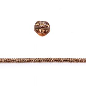 Crystal Bronze Luster Czech Glass Snake Bead 6mm Pk40