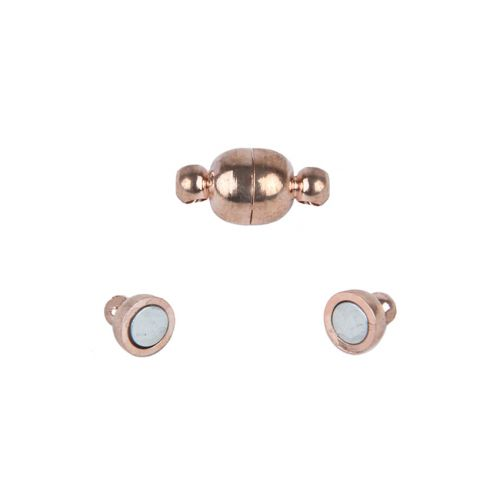 Rose Gold Plated Magnetic Ball Clasp 6mm Pk1