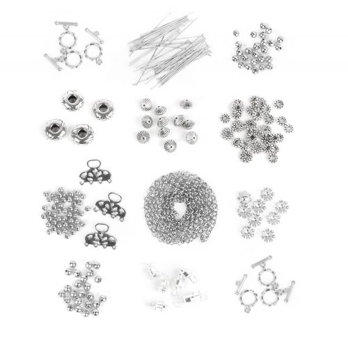 X-Silver Plated Findings Bundle 12 x assorted packs