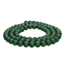 SeaStar™ satin / round / 10mm / bottle green / 85pcs