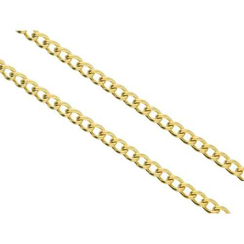 Curb chain / surgical steel / 6x4.5mm / gold / wire thickness 1.2mm / pre-cut 1m