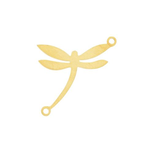Dragonfly / connector / surgical steel / 16x18x1.4mm / gold / 1pcs