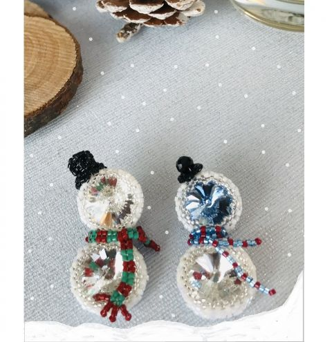 12 Designs Of Christmas Day 5 - How to make a Snowman Brooch