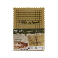 "Small Macrame Braiding Board 7.5x10.5"" Pk1"