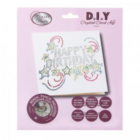Beads Direct Happy Birthday Sparkles Crystal Card Kit