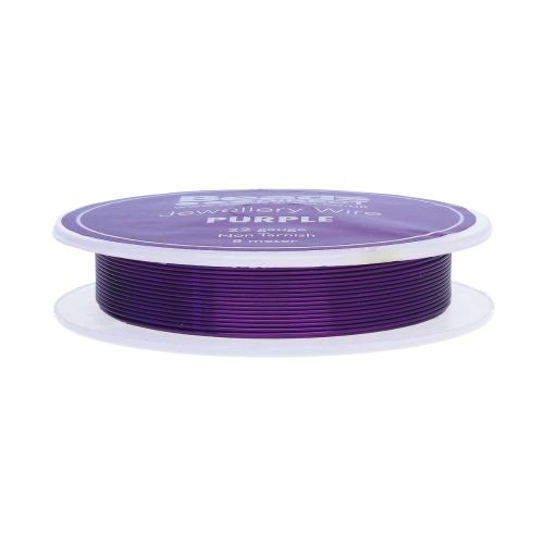 Purple Colour Copper Craft Wire 22 Gauge (0.60mm) 8 Metre Reel
