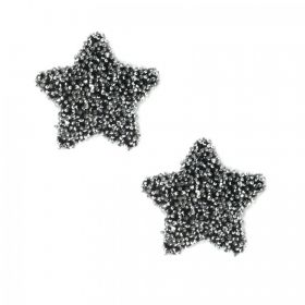 Swarovski Crystal Small Star Self Adhesive Transfer Black CAL Pk2