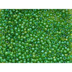 TOHO™ / Round 11/0 / Inside Colour / Lime Green/Opaque Green Lined / 10g