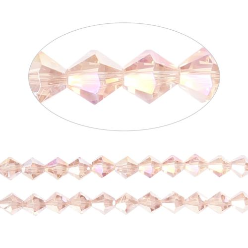X- Essential Crystal 6mm Bicones Pink AB Pk50