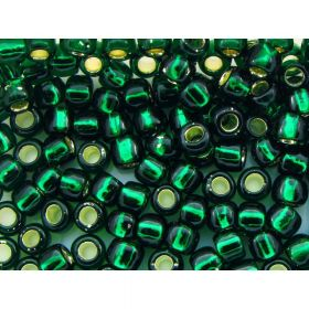 TOHO ™ / Round 6/0 / Silver Lined / Green Emerald / 10g / ~ 160pcs