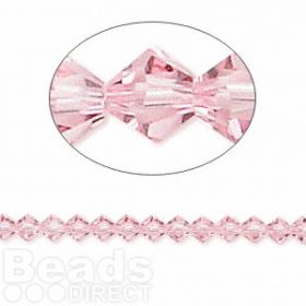 5328 Swarovski Crystal Bicones Xillion 4mm Light Rose Pk24
