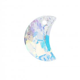 6722 Swarovski Crystal Moon Charm 16mm Crystal AB Pk1