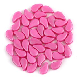 Flamingo Pink Tropical Paisley beads 5x8mm 10g