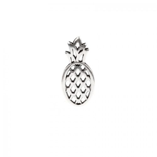 Antique Silver Pineapple Charm 12x25mm Pk1