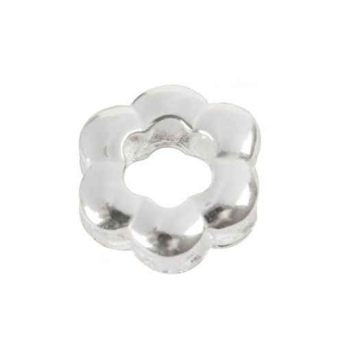 X-Sterling Silver 925 Hollow Flower Charm Bead 18mm Pk1
