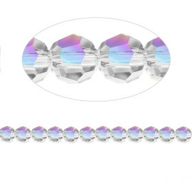 5000 Swarovski Crystal Faceted Rounds 4mm Crystal AB Pk12