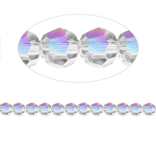 aacbd4ed20f 5000 Swarovski Crystal Faceted Rounds 4mm Crystal AB Pk12 | Beads Direct