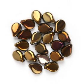 Preciosa Czech Pressed Glass Pip Beads Golden Brown 5x7mm Pk20