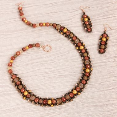 Autumn Flat Spiral Jewellery Set