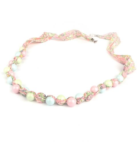 Pastel Pearl Floral Necklace