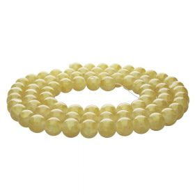 Mistic™ / round / 10mm / light mustard / 80pcs