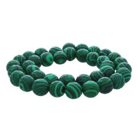 Malachite / faceted round / 10mm / green / 36pcs