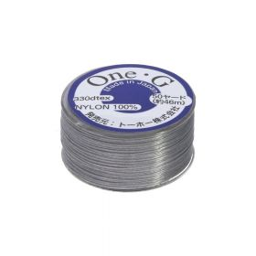 TOHO One-G ™ / nylon thread for beads / grey / thickness 0.35mm / 46m