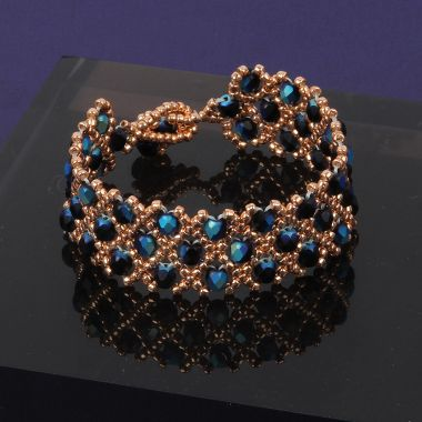 Midnight Blush Woven Bracelet