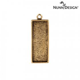 Nunn Design Antique Gold Charm Rectangle Bezel 11x29mm Pk1
