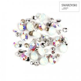 1088 Swarovski Crystal Chaton Silver Mix Assorted Sizes 2g