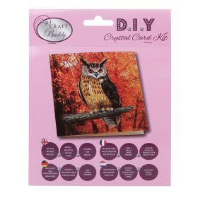 Beads Direct 'Autumn Owl' Crystal Card Kit