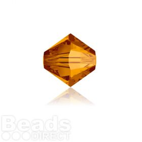 5328 Swarovski Crystal Bicones 4mm Crystal Copper Pk1440
