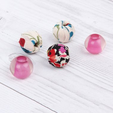 Floral Fabric Beads