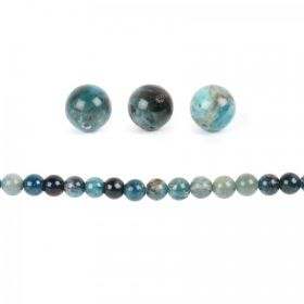 Blue Apatite Semi Precious Round Beads 10mm Pk10