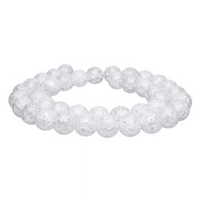 Ice crystal / round / 6mm / clear / 68pcs