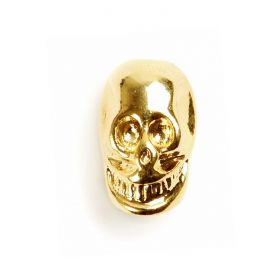 Gold Plated Skull 15x9mm Pk1