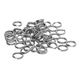 Split rings / surgical steel / 6mm / silver / wire 0.7mm / 10pcs