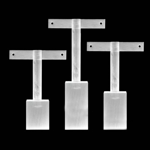 X-Frosted Acrylic Small, Medium and Large Earring Jewellery Stands Pk3