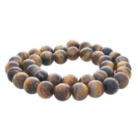 Tiger's eye / round / 6mm / 68pcs