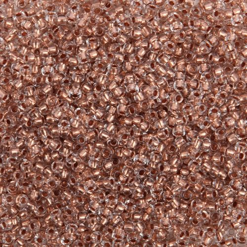 Preciosa Size 9 Rocaille Seed Beads Copper Lined Clear 50g
