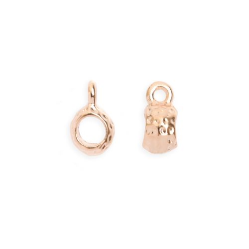 Rose Gold Plated Charm Carrier 3mm Pk2