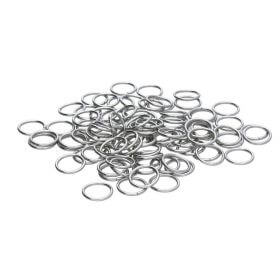 Jump rings / surgical steel / 5mm / silver / wire 0.8mm / 30pcs
